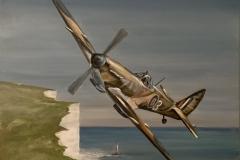 """Spitfire over Beachy Head"""