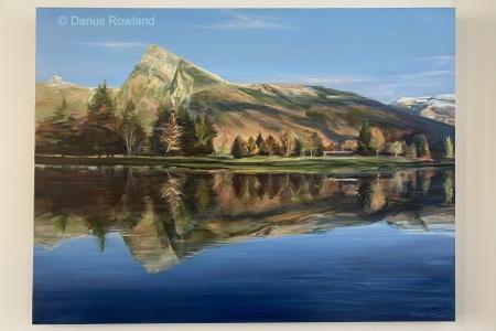 ''Au bord du lac au soleil d'automne''