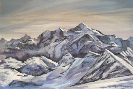 ''Mont Blanc from Flaine''
